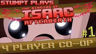 The Binding of Isaac: Afterbirth Co-op - #1 - Hush Baby (4 Player Gameplay)