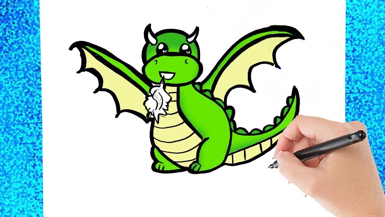 hoe teken je een draak leren tekenen voor