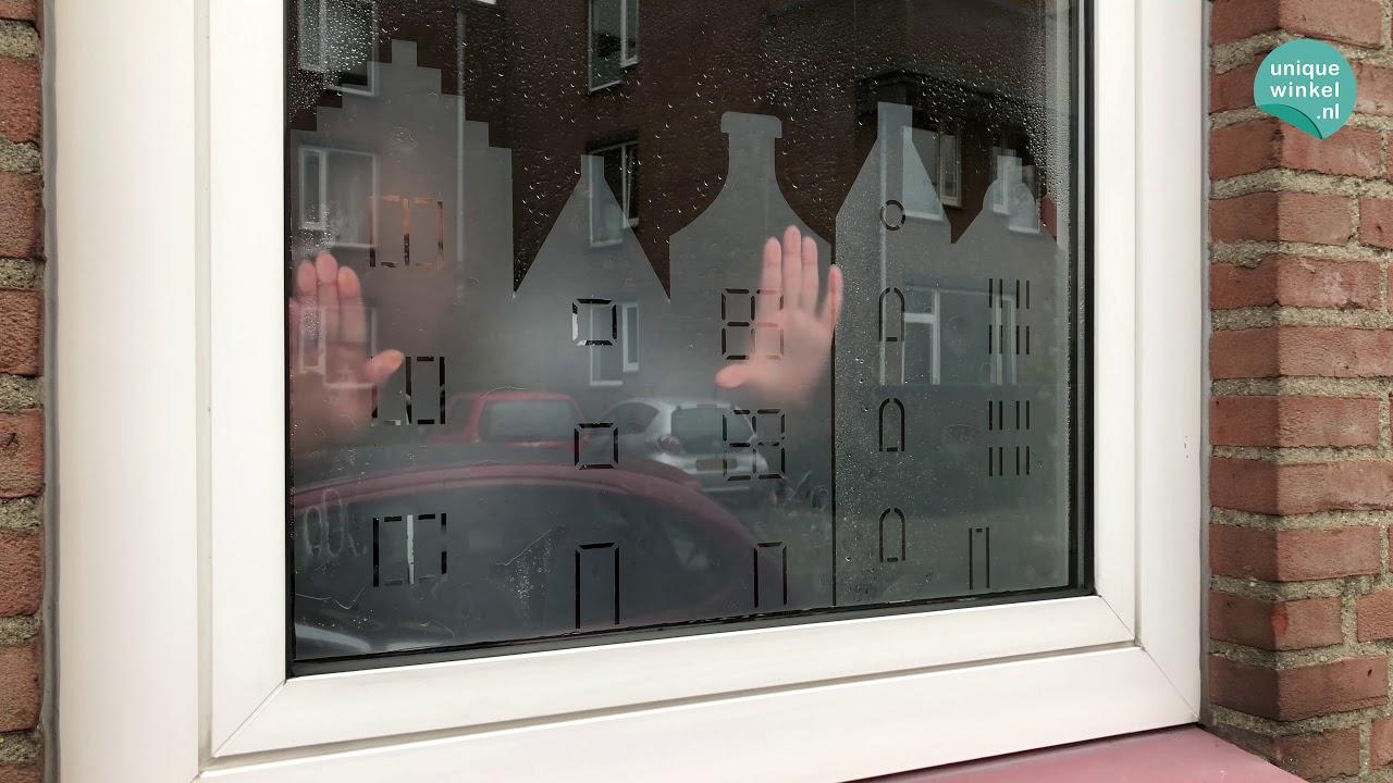 Welp Anti inkijk statische raamfolie Grachtenhuisjes - Glasfolie YA-16