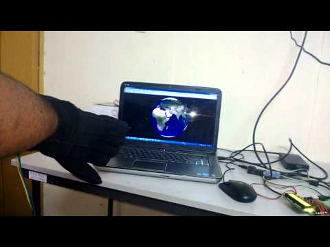 Hand controlled virtual Globe in MATLAB
