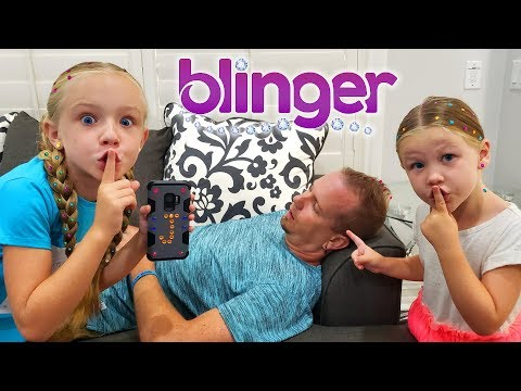 Pranking Our Dad! We Bling Out His New Shoes With Blinger!!!