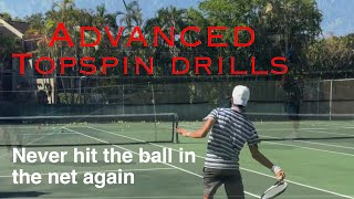 Top Spin tennis. Simple drills to never hit the ball in the net again.Professional Coach Brian Dabul
