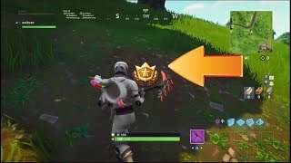 """Follow the Treasure Map Found in Dusty Divot"" FORTNITE WEEK 7 LOCATION! (Battle Star Challenges)"