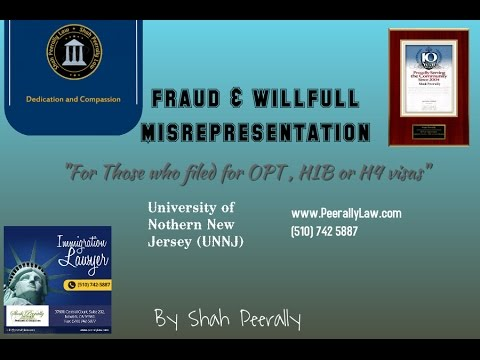 WillFull Misrepresentation and Fraud to the USCIS| UNNJ fraud answer RFEs