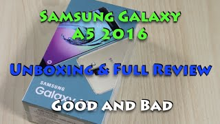 Samsung Galaxy A5 2016 Unboxing, Review, Pros, Cons
