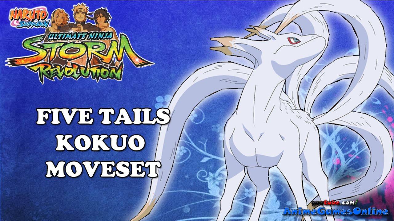 five tails kokuo complete moveset naruto shippuden ultimate ninja
