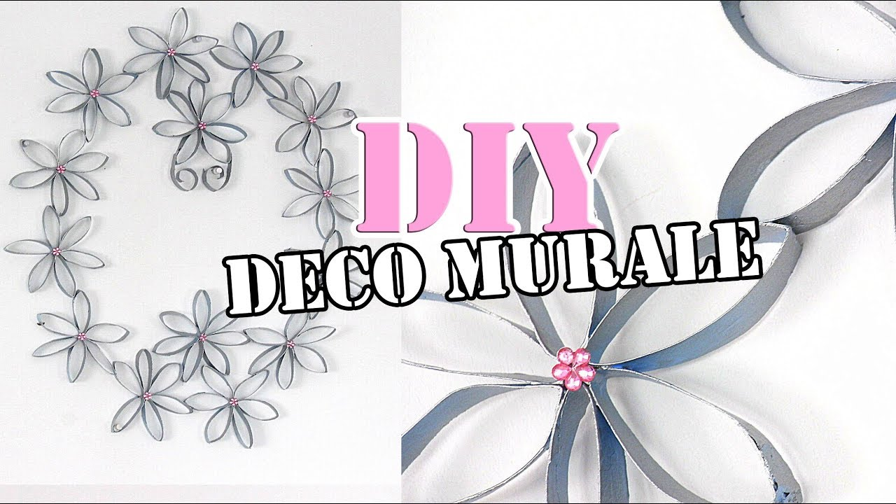 Diy d coration murale en rouleaux de papier toilette youtube - Decoration avec papier ...