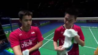 yonex all england open 2017 badminton f m4 md li liu vs gid suk set 2