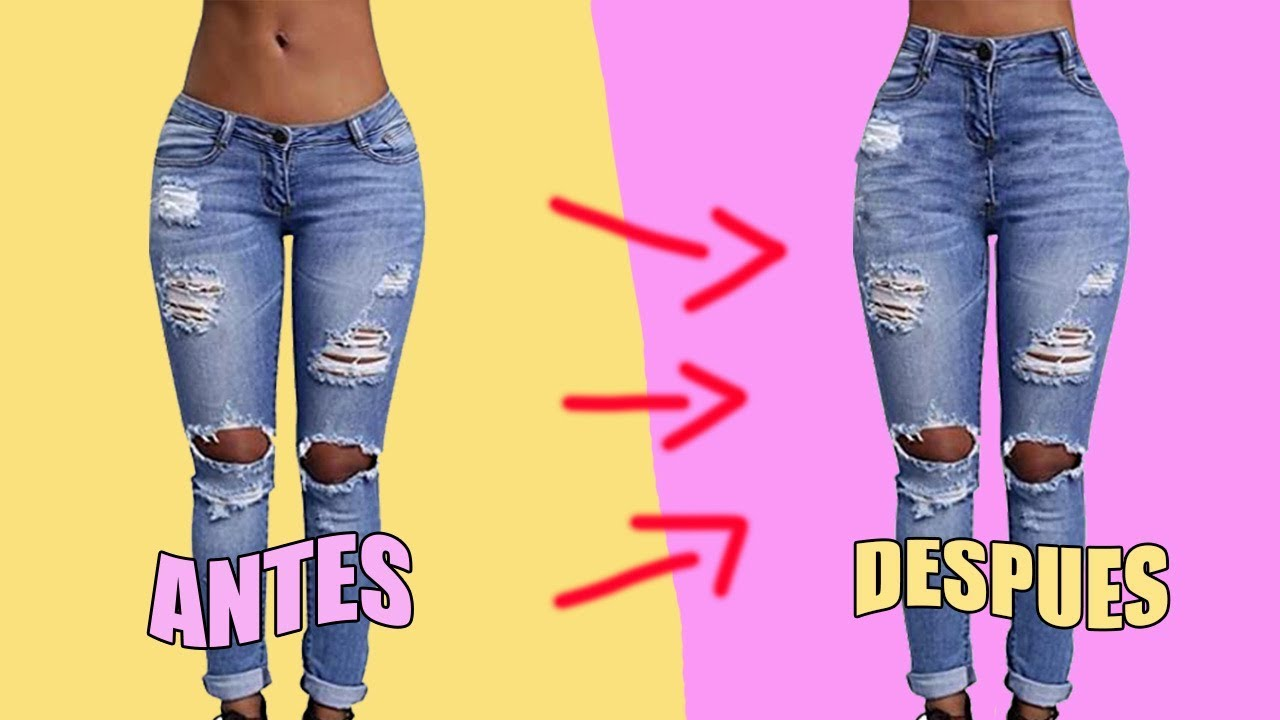 Diy Pantalon De Tiro Bajo A Tiro Alto Youtube