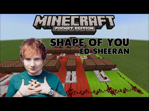 ♪ Shape Of You ♪ Ed Sheeran  Noteblock Sg #1 MCPE INDESIAN