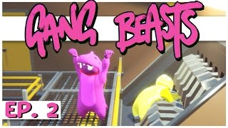 Gang Beasts Multiplayer - Ep. 2 - Purple Dinosaur of Doom! - Online Gang Beasts Gameplay