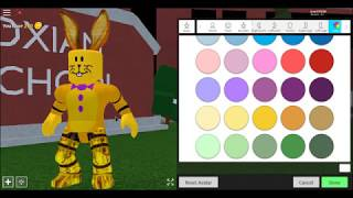 How To Make Spring Bonnie In robloxian high school