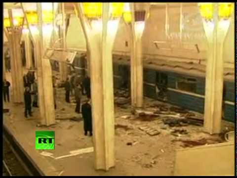 Shock footage inside Minsk metro moments after bombing