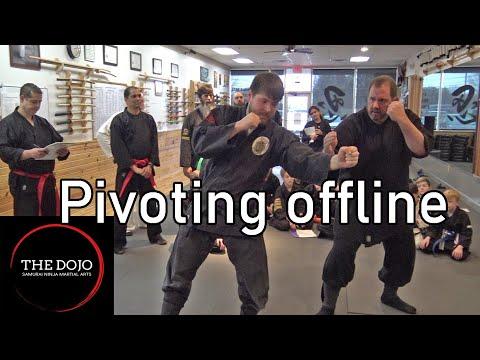 Pivoting offline in self-defense