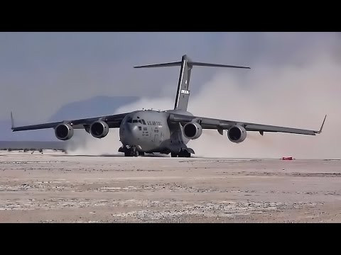 C-17 Lands/Unloads Patriot Missile Battery • White Sands NM