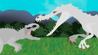 Dinosaurs cartoons battles: Indominus Rex vs Rudy. DinoMania - NEW episode