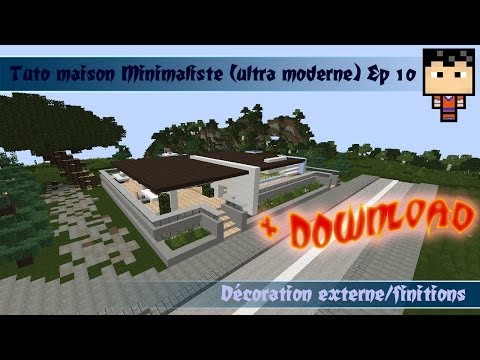 Minecraft: (DOWNLOAD) Tuto Maison Ultra Moderne 1 ( Minimaliste ) Ep 10
