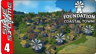 ►VILLAGE OPTIMIZATION IS NOT EASY!◀ Foundation Coastal Town Ep 4