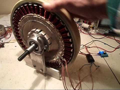 Ac dc 6 bldc from washer motor youtube for How to convert a dc motor to ac