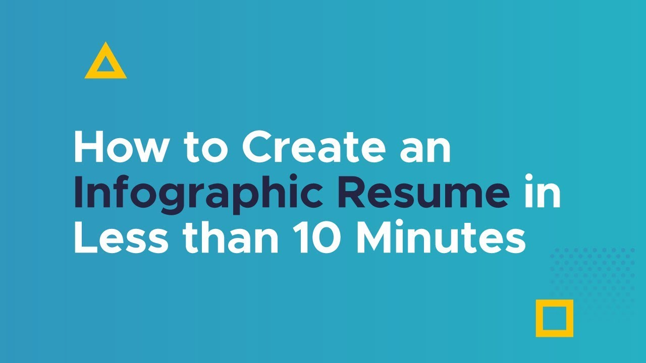 How to Create an Infographic Resume with Piktochart - YouTube