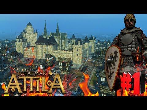 Лучшая модификация на сегодня! Total War Attila PG 1220 (Легенда) - Киевская Русь #1
