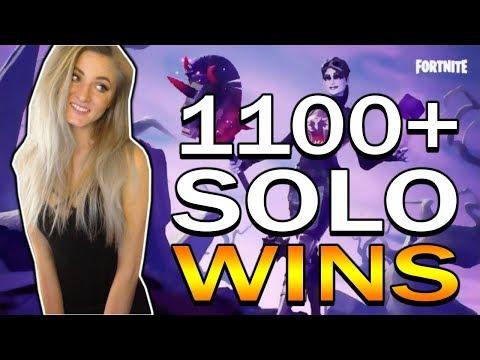 Fortnite - NEW DARK BOMBER SKIN! 1100+ Solo Wins! Random Duos & Solos. LIVE GAMEPLAY