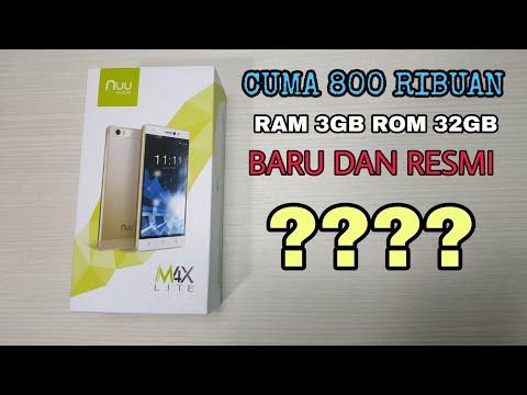 Hape Resmi Termurah Dikelasnya   800rb An Dapet RAM 3GB   NUU Mobile M4x Lite Indonesia