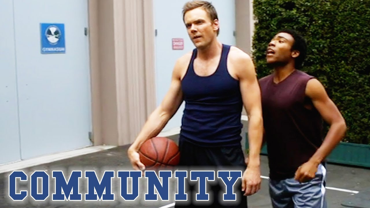 Troy Beats Jeff In A Basketball Game | Community