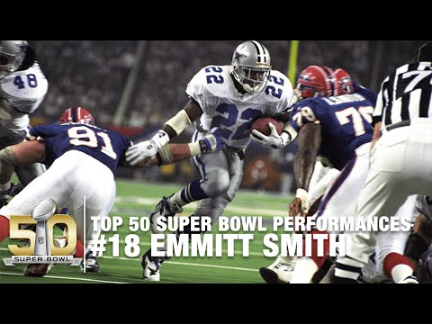#18: Emmitt Smith SB XXVIII Highlights | Cowboys vs  Bills | Top 50 Super Bowl Performances