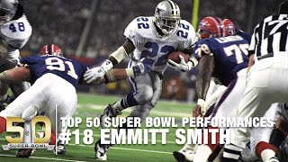 #18: Emmitt Smith SB XXVIII Highlights | Cowboys vs  Bills | Top 50 Super Bowl Performances