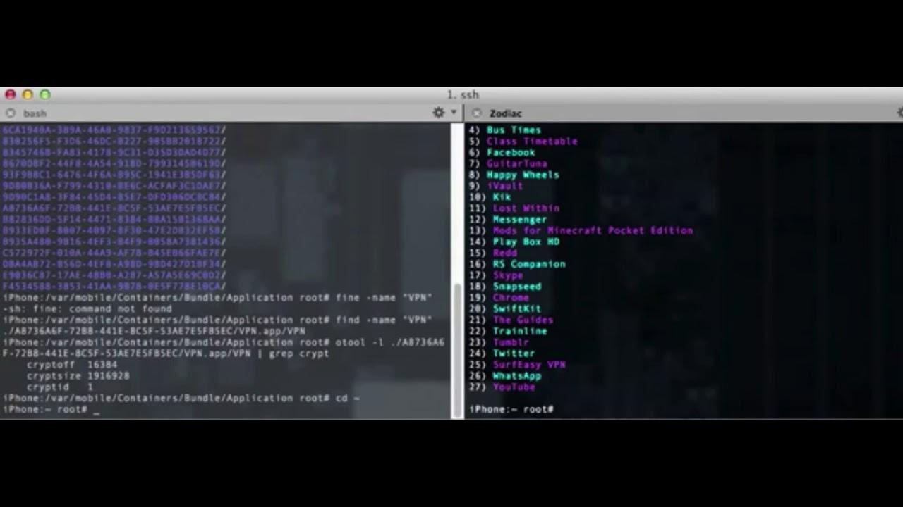 Decrypt IPA's with Clutch via SSH