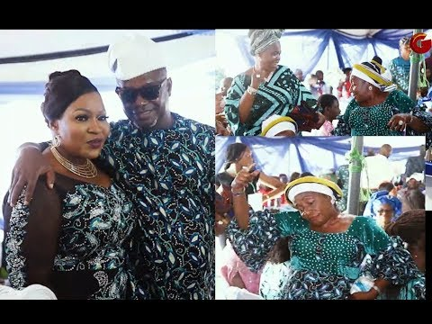 This Woman Dance Moves That Got People Laughing As Prince Segun Ajayi &Wife Storms In Looking Fly