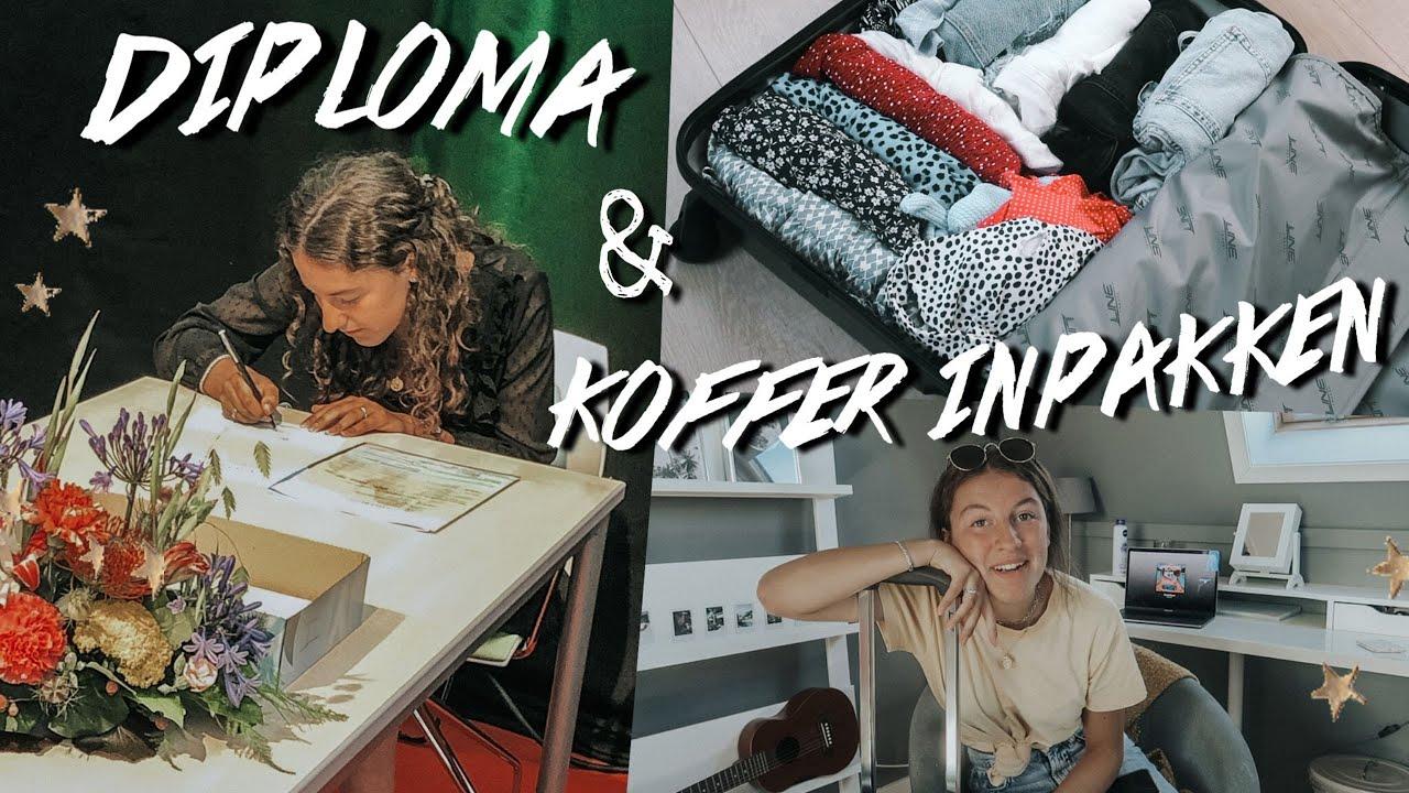 DIPLOMA-UITREIKING &  KOFFER INPAKKEN ✩ Eva Rose