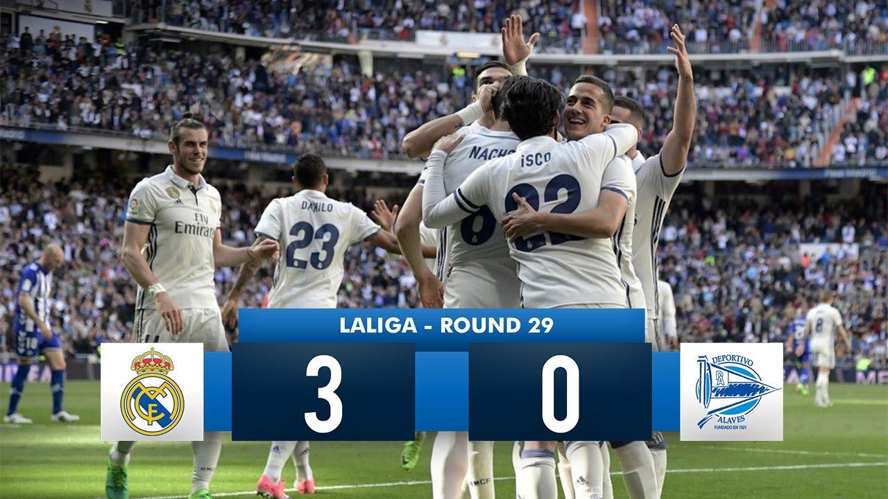 Real Madrid 3 0 Deportivo Alavés Hd 1080i Full Match Highlights 04