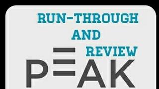Peak - Brain Training app Run-Through and Review