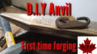 D.I.Y anvil and first time forging