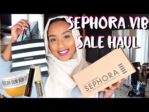 HUGE SEPHORA VIB SALE HAUL 2017 + DRUGSTORE MAKEUP