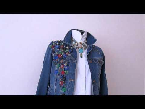 Как красиво вышивать на одежде. Модная джинсовая куртка с вышивкой
