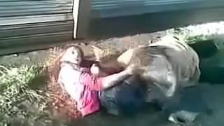 Драка сельских пьяных девушек Лучшие приколы 2015