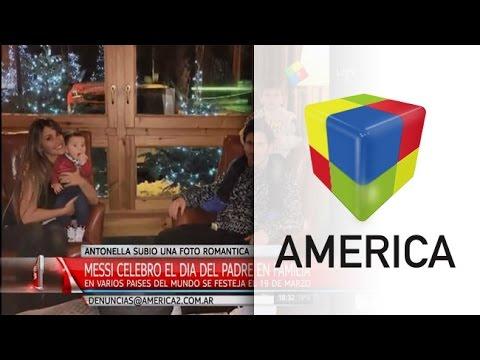 Emotivo saludo de Antonella a Lionel Messi por el Día del Padre en España