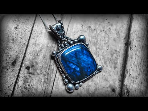 How to make beautiful vintage style silver jewelry. [ Using Labradorite ]