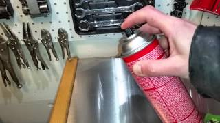 How To Recharge An Aerosol Can With Air And Fluid!!