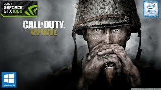 Call of Duty: WWII - GTX 1060 - i5 7500 - 8GB RAM - 1080p