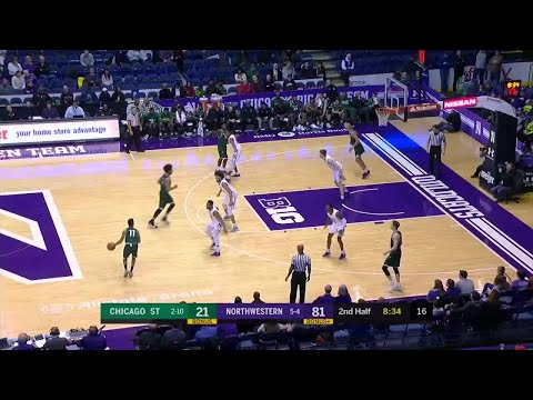 Jordan Ash One-Hand Throw Down vs. Chicago State