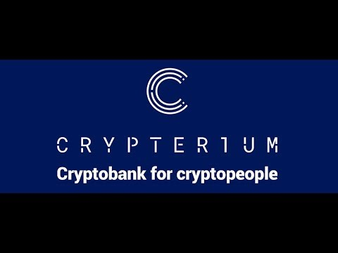 CRYPTERIUM The Worlds First Crypto Bank launching ICO