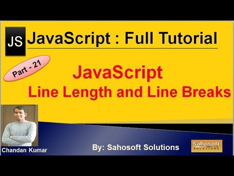 JavaScript Line Length and Line Breaks: Part - 21 : JavaScript Full Tutorial thumbnail