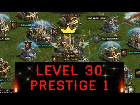 LEVEL 30 PRESTIGE 1 (CLASH OF KINGS WINGS) STRONGER TROOP ATTRIBUTES!!!
