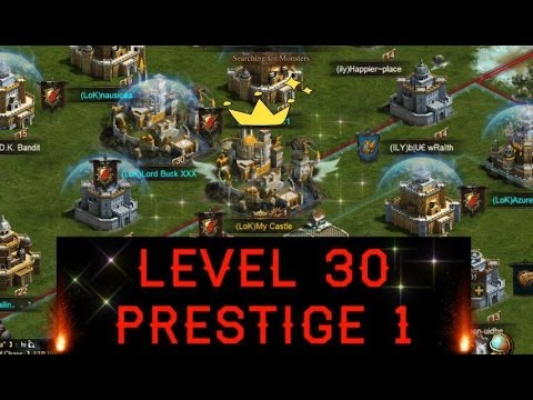 LEVEL 30 PRESTIGE 1 (CLASH OF KINGS WINGS) STRONGER TROOP ATTRIBUTES!!!