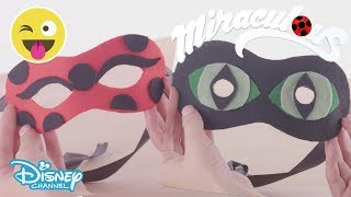 Miraculous Ladybug | Tutorial - Ladybug and Cat Noir's Mask 🐞 | Disney Channel UK