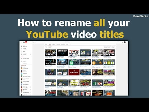 How to rename all your YouTube video titles